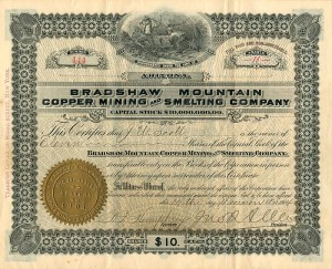 Bradshaw Mountain Copper Mining and Smelting Company - SOLD