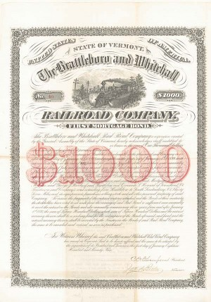 Brattleboro and Whitehall Railroad Company - SOLD