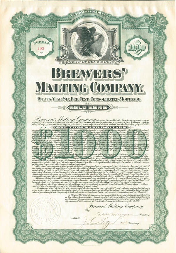 Brewers' Malting Company - SOLD