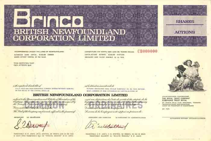 Brinco, British Newfoundland Corporation limited