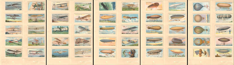British Cigarette Card Set of 50 Early Aviation - SOLD