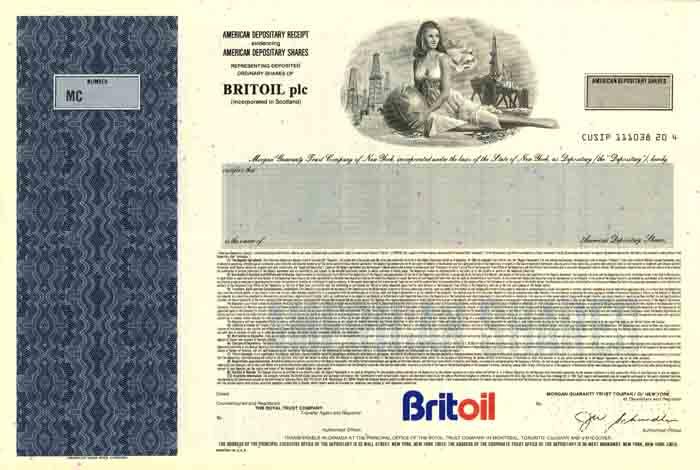 Britoil - Stock Certificate