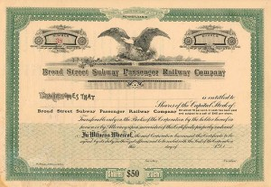 Broad Street Subway Passenger Railway Company - SOLD