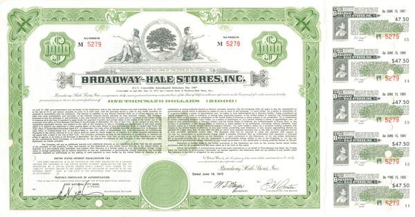 Broadway-Hale Stores, Inc - Bond