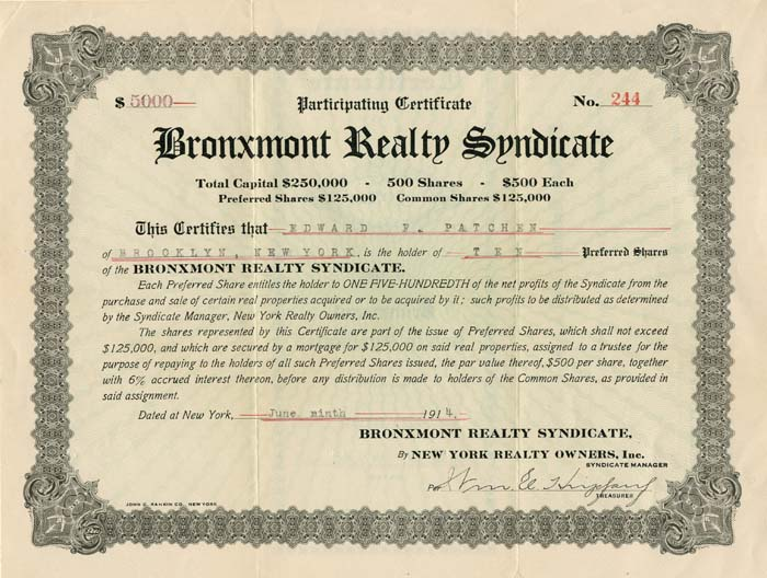 Bronxmont Realty Syndicate