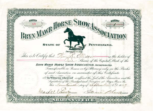 Bryn Mawr Horse Show Association - SOLD