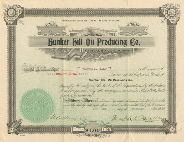 Bunker Hill Oil Producing Co.