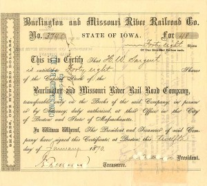 Burlington and Missouri River Railroad Co.