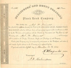 Burlington and Mount Pleasant Plank Road Company