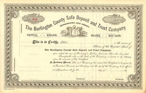 Burlington County Safe Deposit and Trust Company