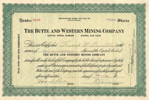 Butte and Western Mining Company