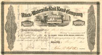 Utica and Waterville Railroad Company signed by John Butterfield