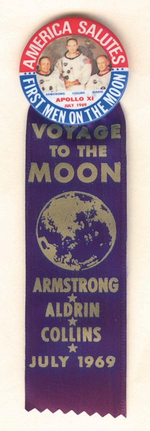 Voyage to the Moon Pin and Ribbon