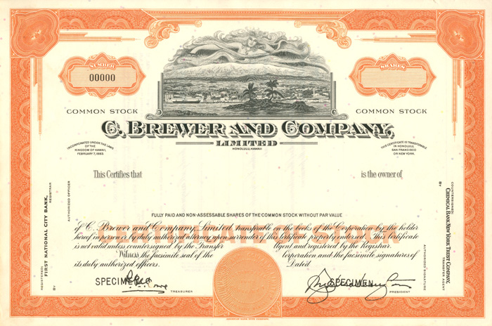 C. Brewer and Company - SOLD