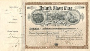 Duluth Short Line Railway Company signed by C.S. Mellen and Geo. H. Earl