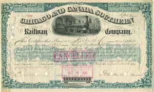 Chicago and Canada Southern Railway signed by C. Vanderbilt, Jr.