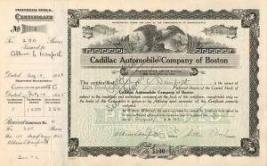 Cadillac Automobile Company of Boston - SOLD