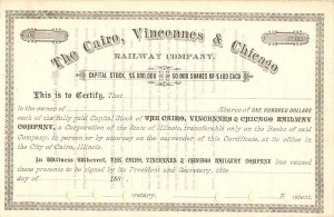 Cairo, Vincennes & Chicago Railway Company