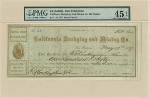 California Dredging and Mining Co. signed by C. E. Buckingham