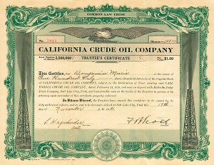 California Crude Oil Company - Stock Certificate - SOLD