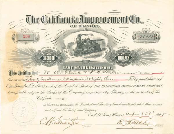 California Improvement Company of Illinois - SOLD