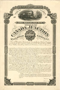 Canada Junction Railroad Company - $1,000