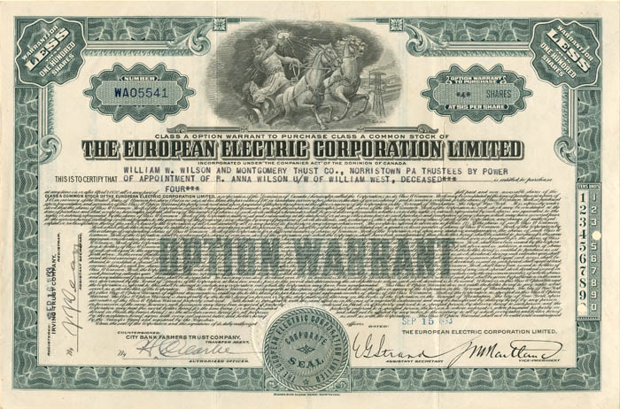 European Electric Corporation Limited