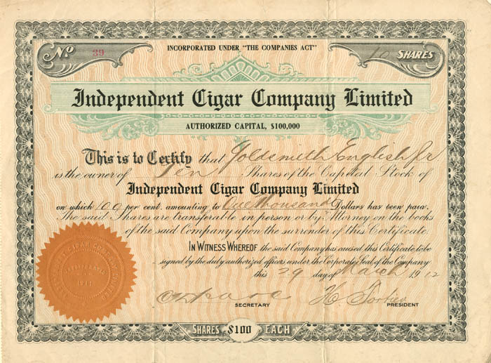 Independent Cigar Company Limited