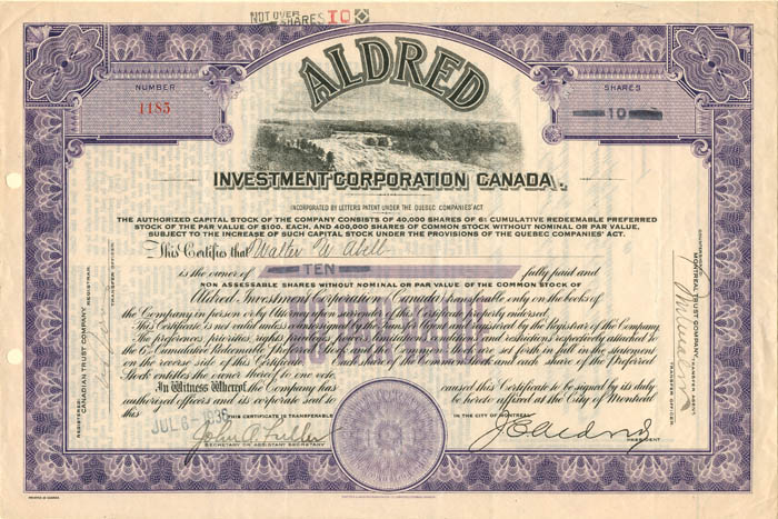 Aldred Investment Corporation Canada