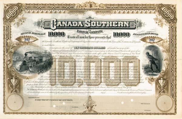Canada Southern Railway - Bond
