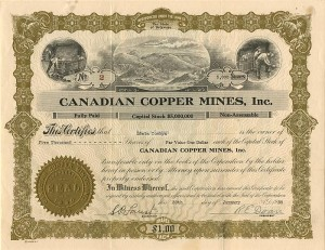 Canadian Copper Mines, Inc.
