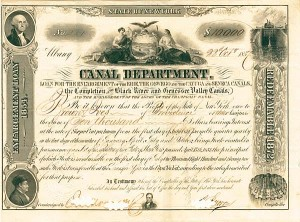 State of New York, Canal Department - SOLD