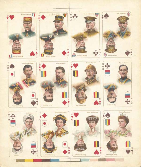 Uncut Sheet of 12 - France/Belgium