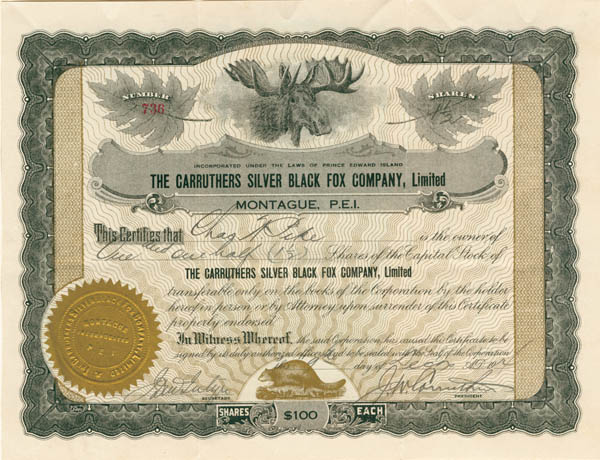 Carruthers Silver Black Fox Company Ltd