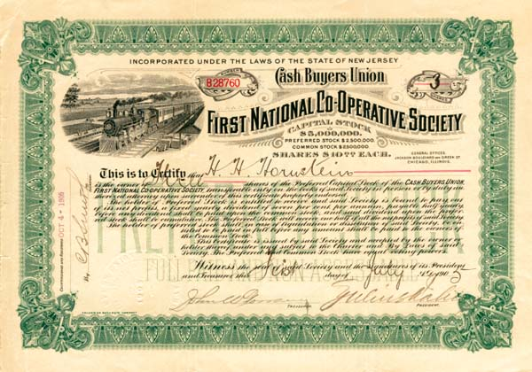 Cash Buyers Union, First National Co-Operative Society