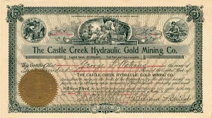 Castle Creek Hydraulic Gold Mining Company - SOLD