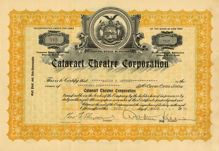 Cataract Theatre Corporation