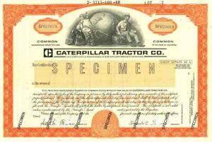 Caterpillar Tractor Co. - Specimen