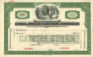 Central American Plantations Corporation - SOLD