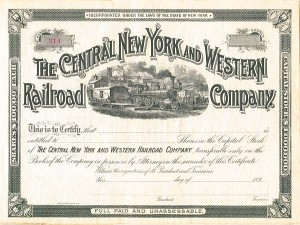 Central New York and Western Railroad Company - SOLD