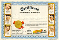Certificate for Dental Health Achievement