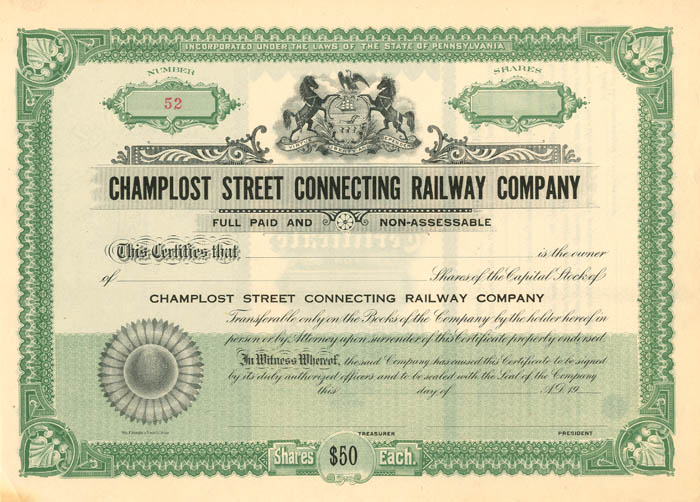 Champlost Street Connecting Railway Company