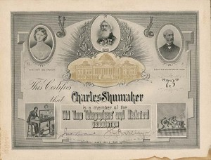 Old Time Telegraphers' and Historical Association Membership Certificate