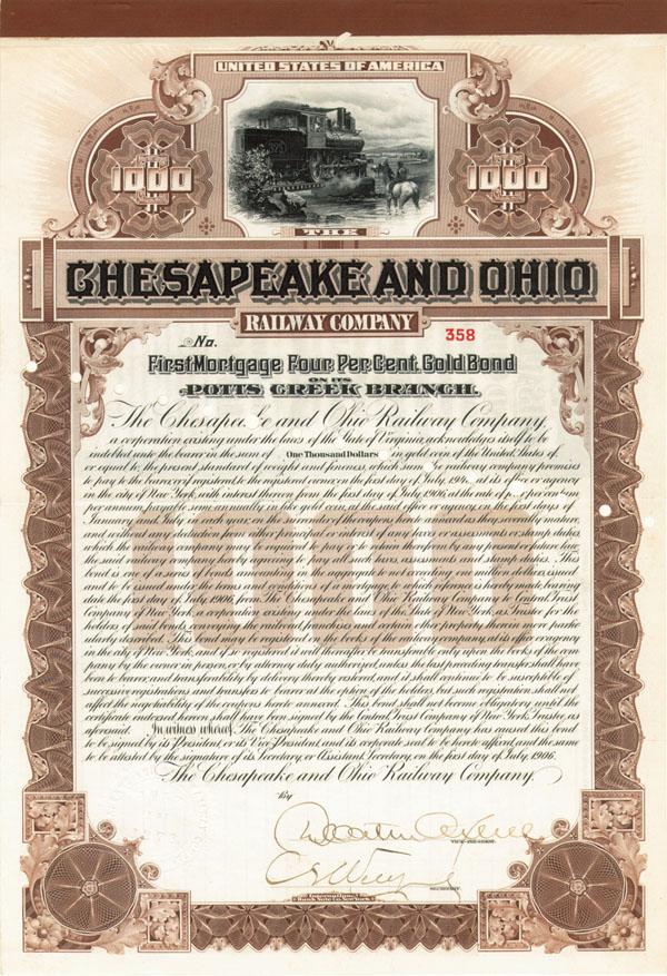Chesapeake & Ohio Railway - Bond