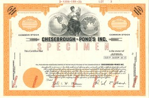 Chesebrough - Pond's Inc.