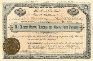 Chester County Plumbago and Mineral Paint Company
