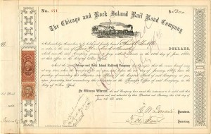 Chicago and Rock Island Rail Road Company - SOLD
