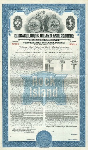 Chicago, Rock Island and Pacific Railroad Company - SOLD