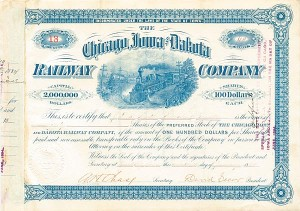 Chicago, Iowa & Dakota Railway Company - SOLD