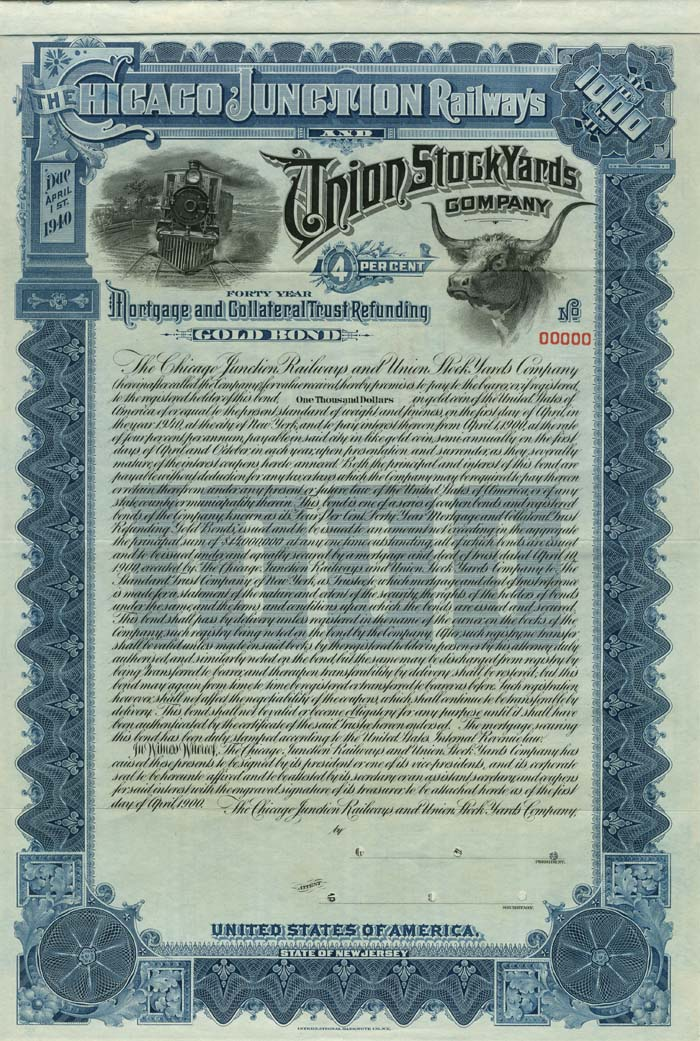 Chicago Junction Railways and Union Stock Yards Company - SOLD